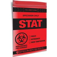 6x9 Stat 3 Wall Specimen Transport Zip Locking Bag Tear Feature Specimen Document Pouch Bags