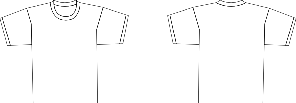 Ymmoussitu T Shirt Template Back Art Licensing Product Outline