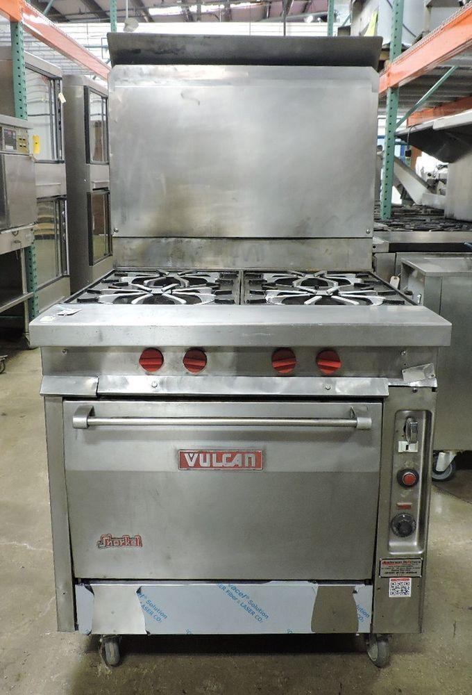 Vulcan Gh45c Commercial 4 Open Burner Heavy Duty Gas Range W Convection Oven Convection Oven Gas Range Convection