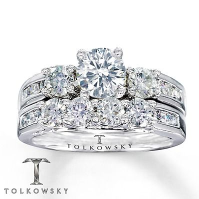Tolkowsky Bridal Set 1 7 8 Carat Tw Diamonds 14k White Gold This Is The