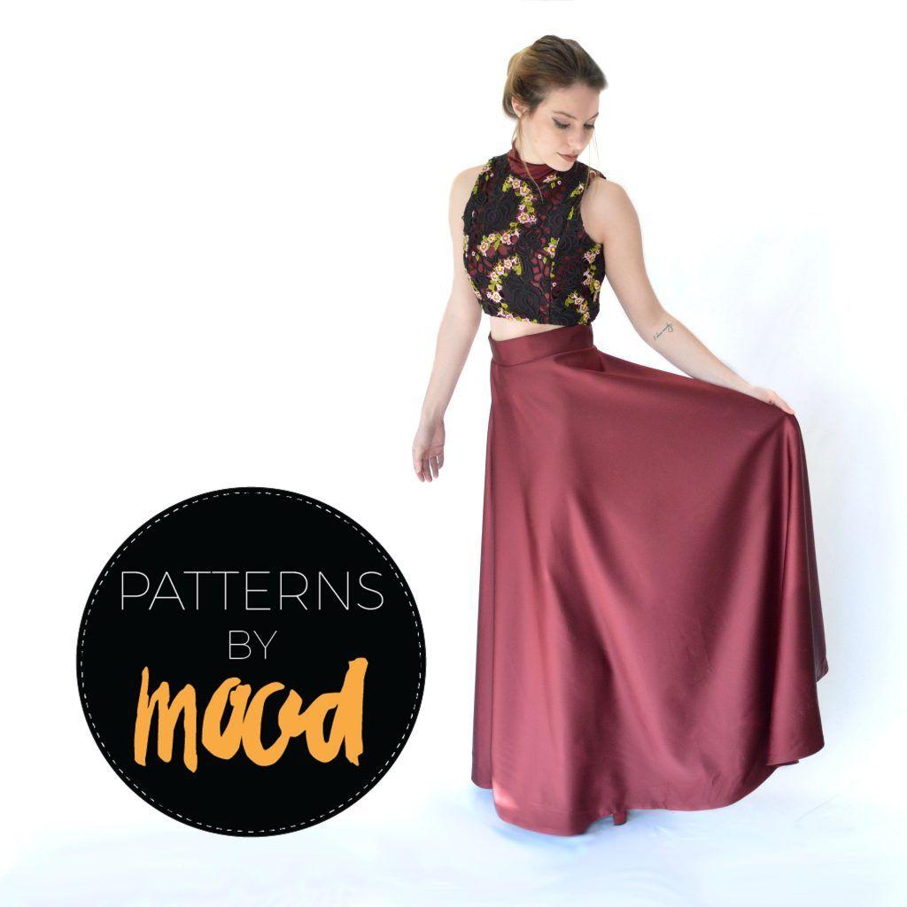 Mood DIY: Free Two-Piece Prom Dress Pattern   Nähen