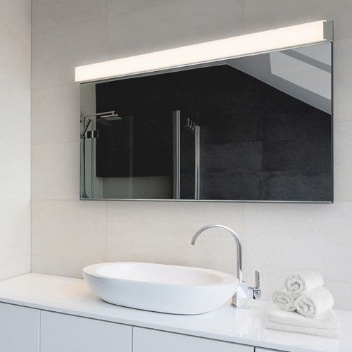Bathroom Mirrors 48 Inches Wide Mirror With Led Lights Wall Sconce