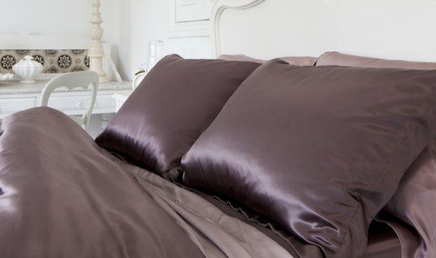 Luxury Mulberry Silk Pillowcases In Chocolate Silksleep