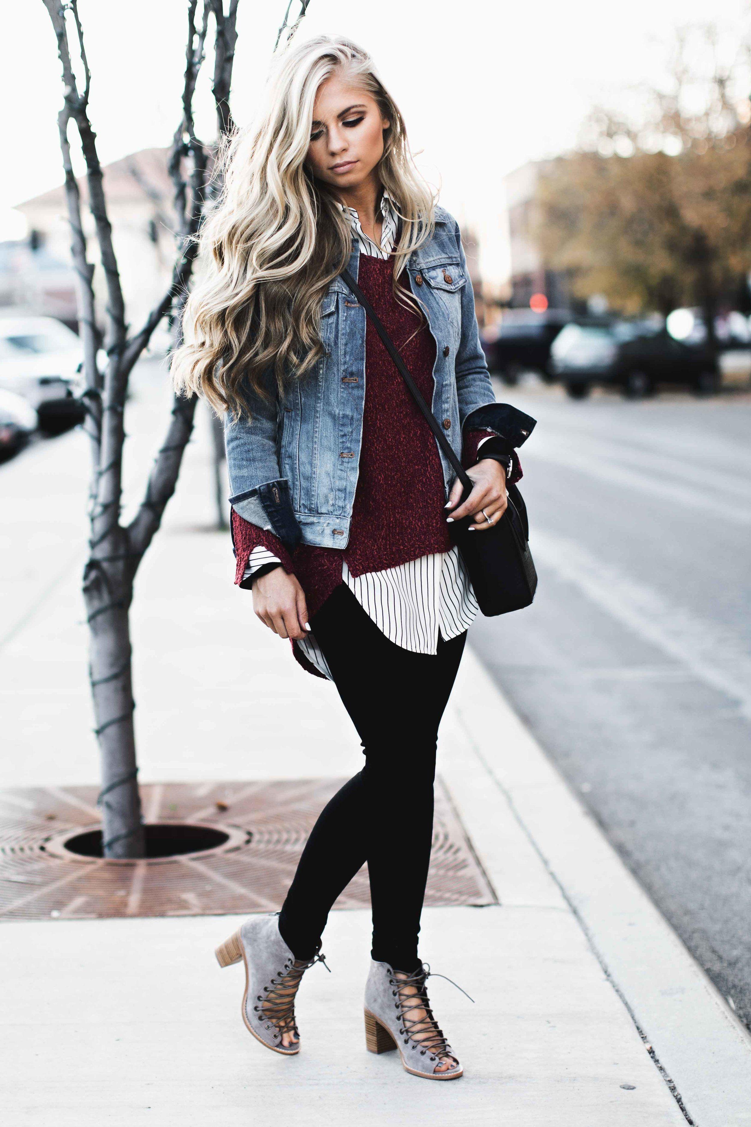 layered | My style | Denim jacket outfit winter, Fashion ...