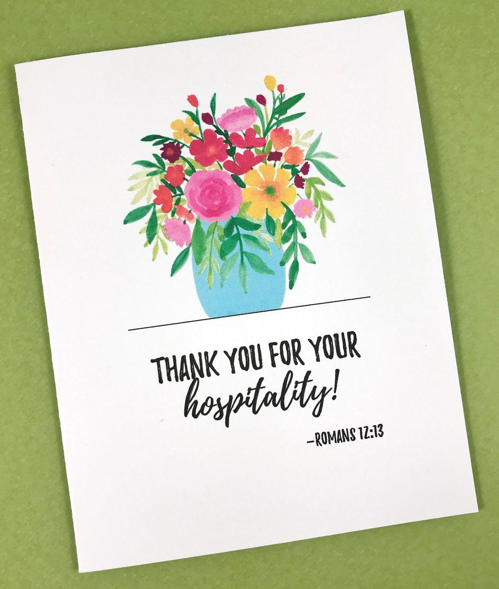 Hospitality Thank You Card  Thank you cards, Your cards, Hand