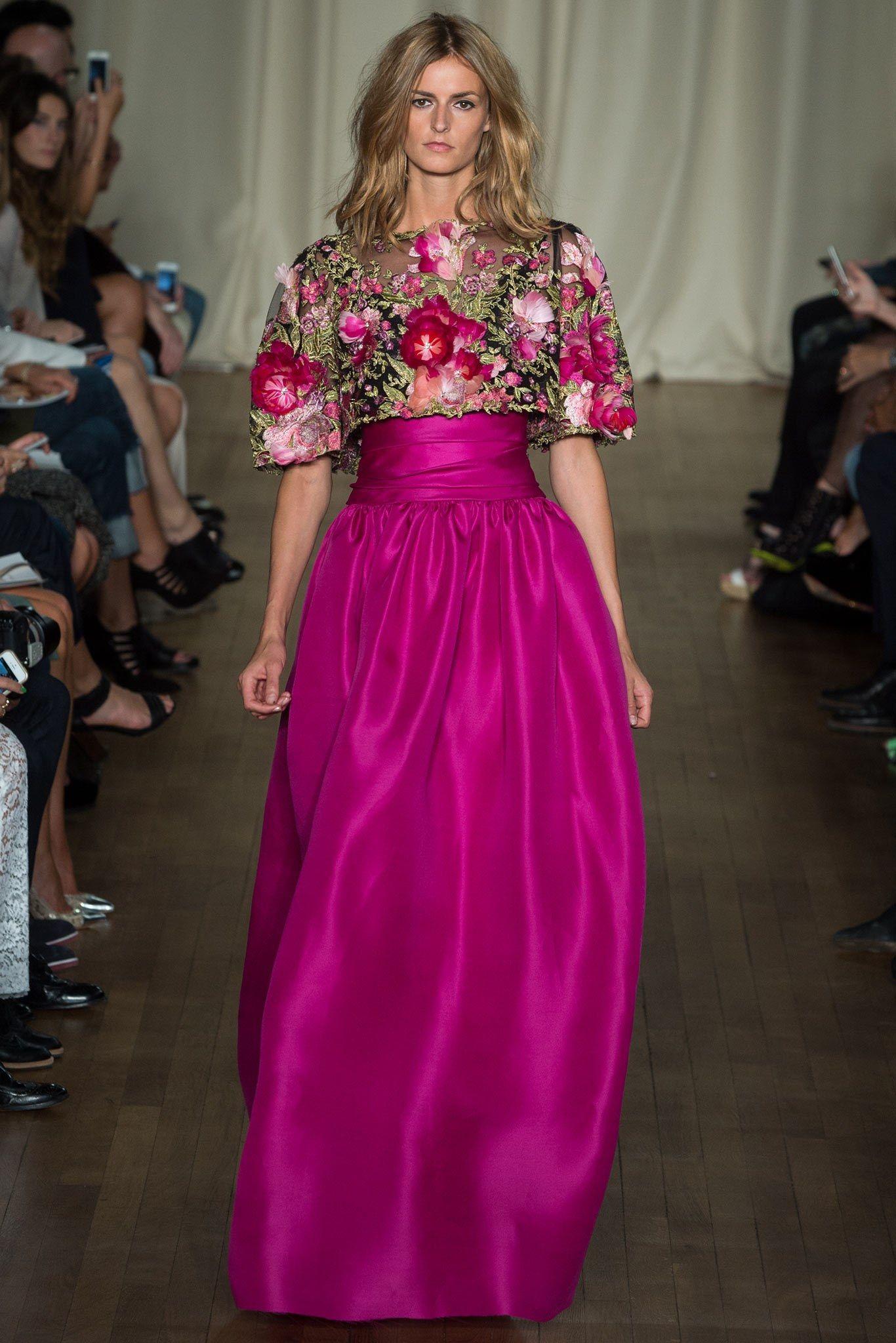 Marchesa Spring 2015 Ready-to-Wear Fashion Show | La invitada y Perfecta