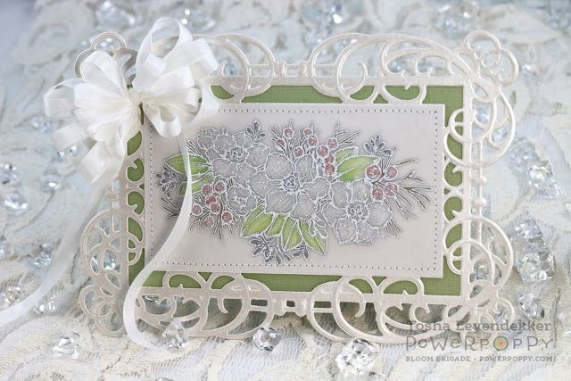 Stamp Talk with Tosh: Paperwhites Minc'd ~ Power Poppy Happiest Holiday Collection