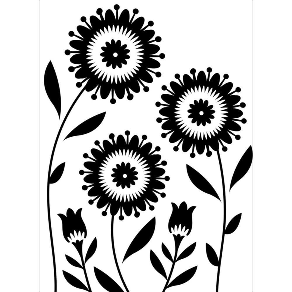 Stencil Wall Stencil Flower 0236