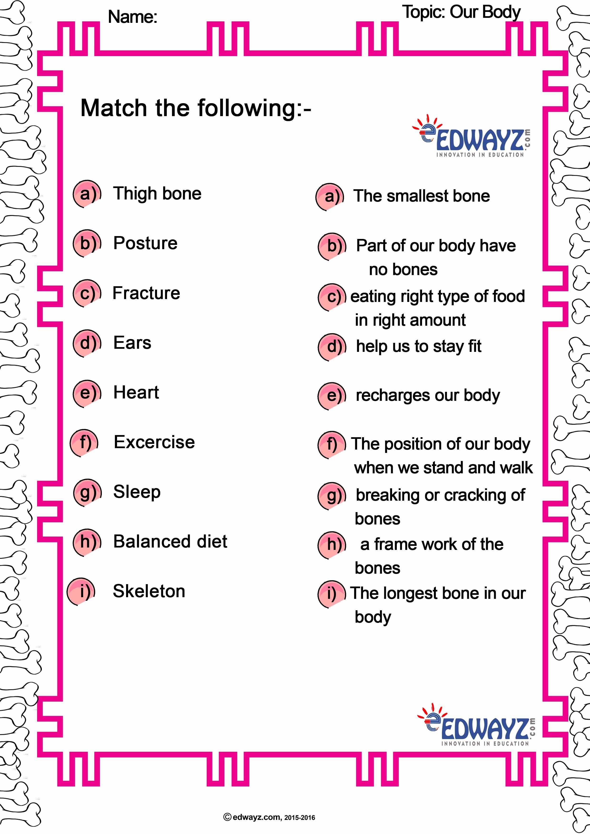 Edwayz Class2 Evs Our Body In