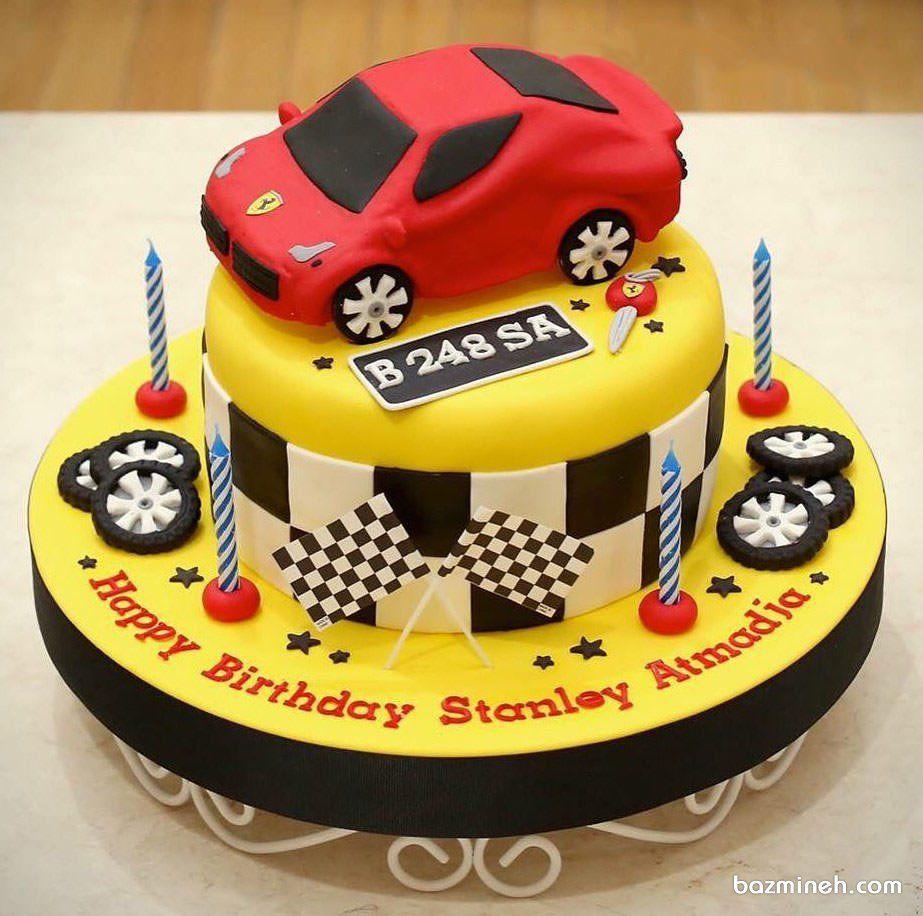 کیک فوندانت جشن تولد پسرانه با تم مسابقات رالی Cake Cake Decorating Birthday Cake
