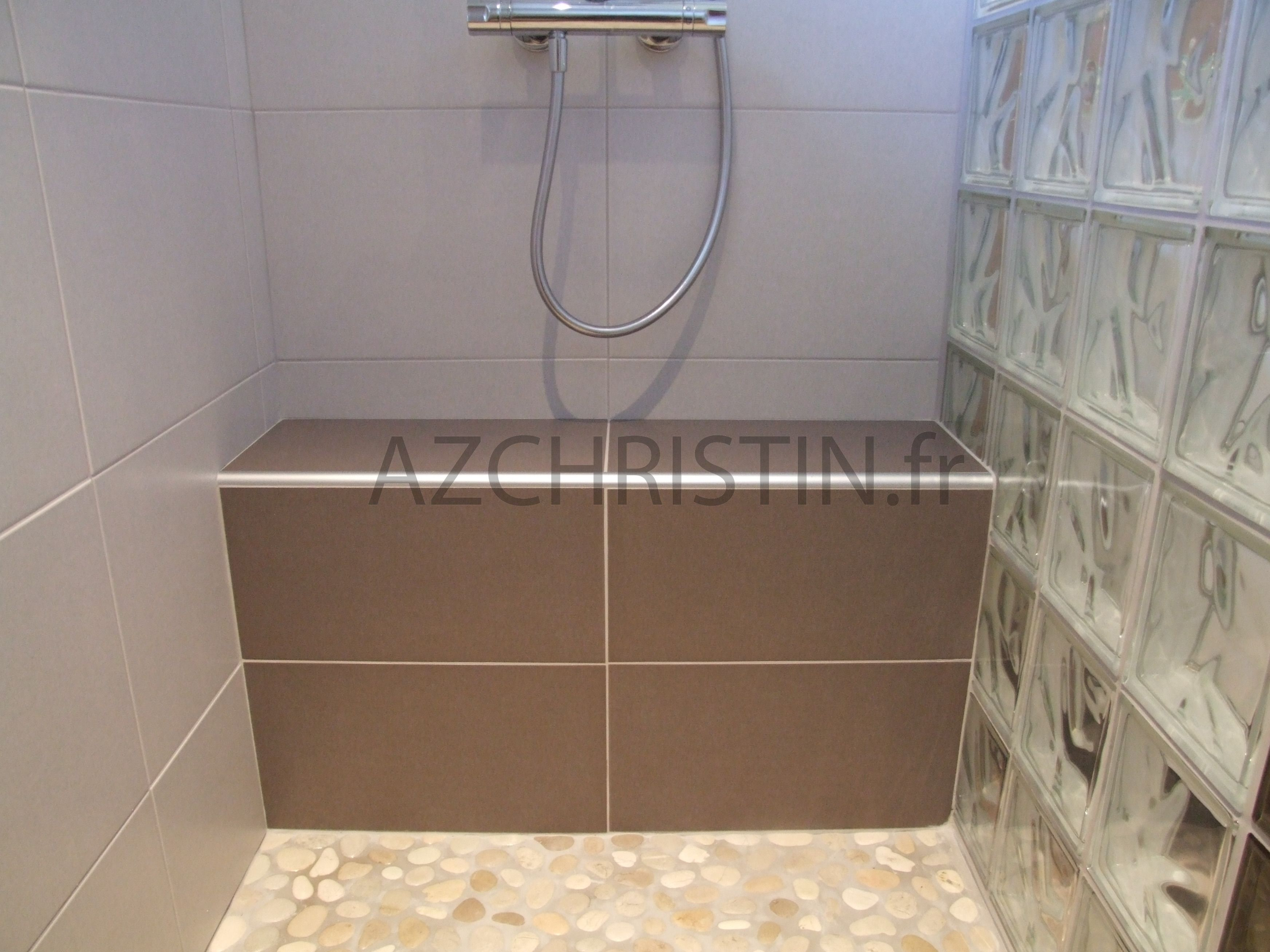 125 douche italienne avec assise