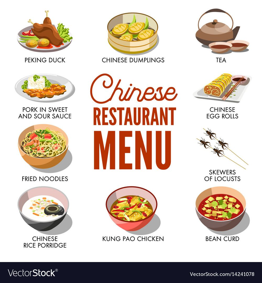 Chinese Restaurant Menu Cover Template Vector Image On Vectorstock Restaurant Menu Covers Chinese Restaurant Menu Cover