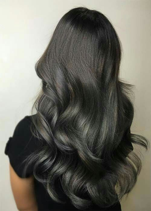 Onyx Hair Hair Color Dark Grey Hair Color Dark Grey Hair Color