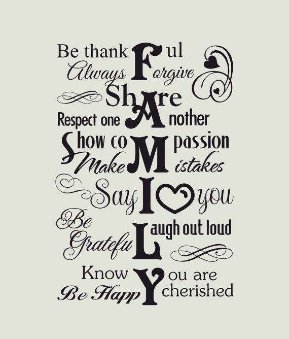 Family wall decal - Family wall decor - vinyl wall decal - subway style wall decals - Family wall decals - our family wall decal - Quotes