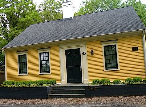 Bold Yellow And Black Exterior Color Scheme