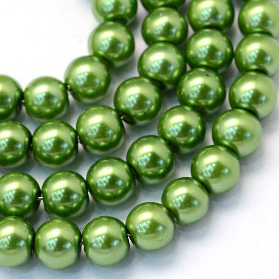 strand of 100 round pearl beads 4mm Glass Faux Pearls