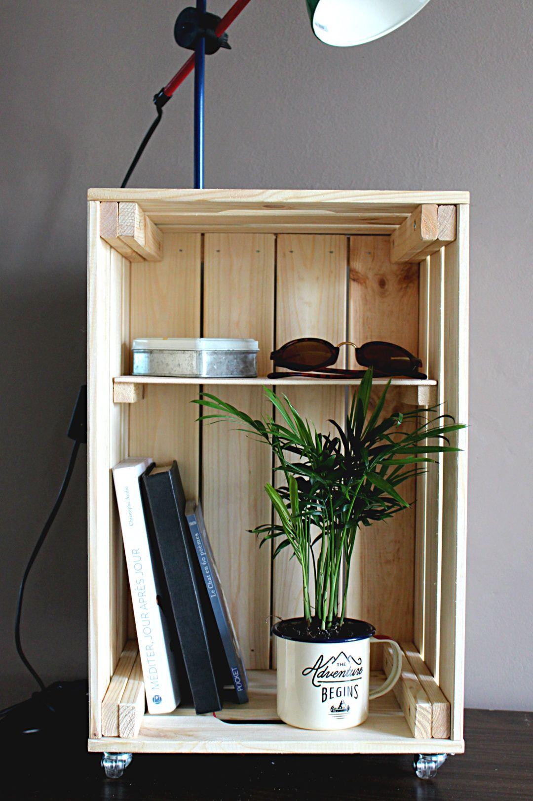 DIY : comment créer un table de nuit avec une caisse en bois !