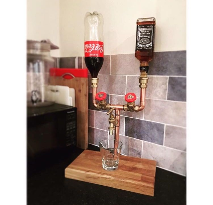 Copper Pipe Jack Daniels And Coke Stand Made To Order By