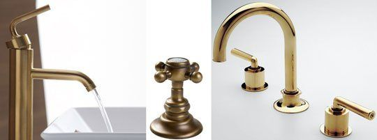 Gold And Brass Fixtures And Faucets Promising Or Passe Faucet - Brushed brass bathroom faucets