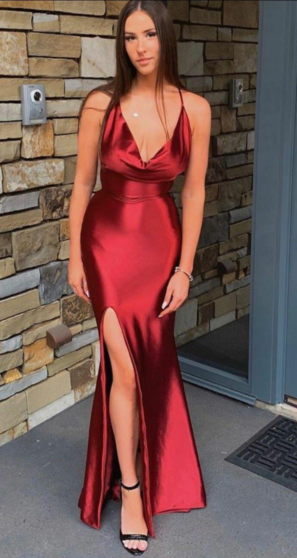 Untitled Coquettefashion Mint Satin Mini Dress In 2020 Red Satin Dress Red Dress Outfit Dresses