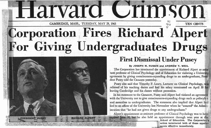 Image result for Leary and Alpert fired from Harvard