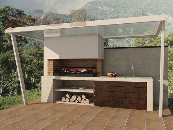Rea para parrilladas en casa mi casa pinterest for Asadores modernos jardin