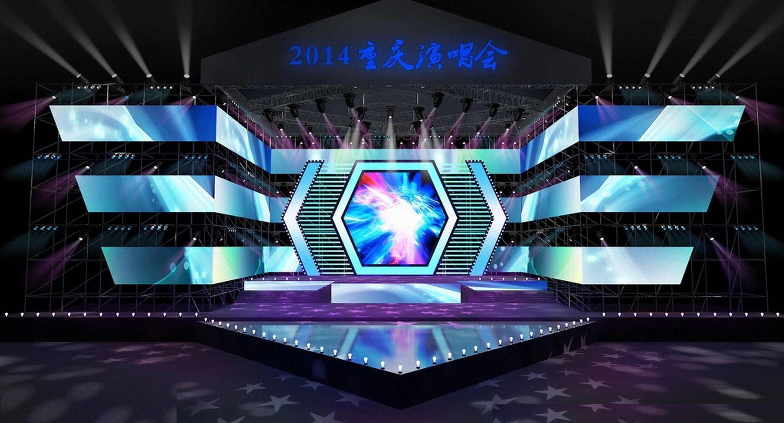 Exhibition Stand 3d Max Free Download : Concert stage design d model max obj mtl scena