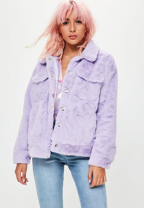 new lower prices variety styles of 2019 sale Nail a daring look in this faux fur trucker jacket. With ...
