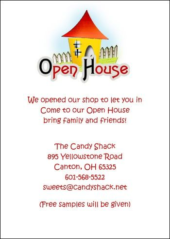 Business Open House Invitation Stationery at CardsShoppe - promotion announcement samples