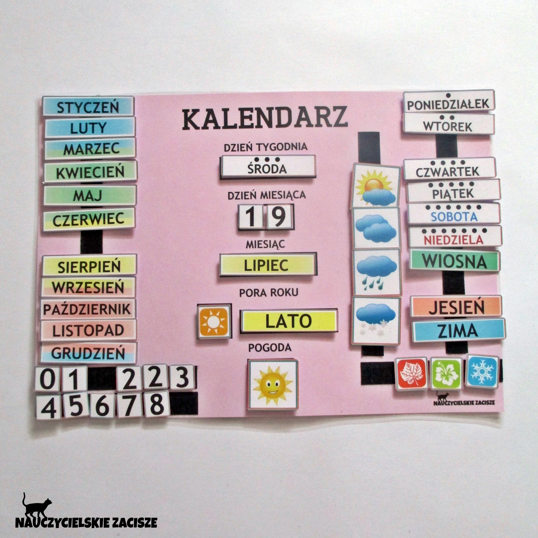 Kalendarz Wielkosci A3 Idealny Do Przedszkola Elementy Mocowane Za Pomoca Rzepow Zapraszam Na Allegro Oraz Na Fanpage Nauczycielskie Zacisze Na Faceboo School