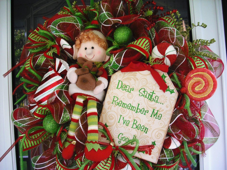 Elf Christmas Wreath by WreathsEtc on Etsy, $155.00