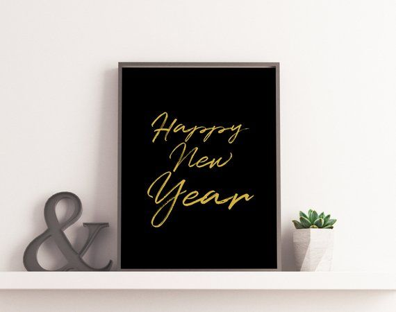 happy new year 2019 poster new year printable svg modern holiday decor christmas decor christmas