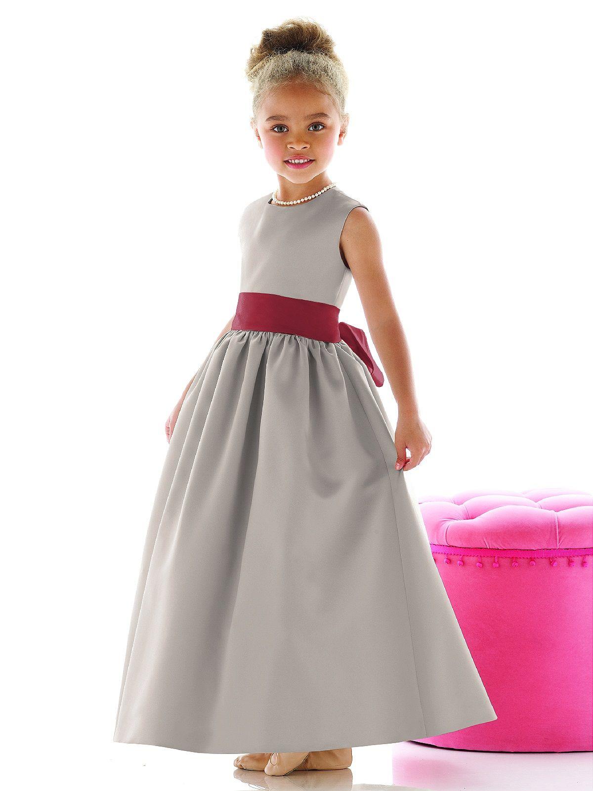 Flower girl dress fl4021 red flower girl flower girl dresses grey and red flower girl ombrellifo Choice Image
