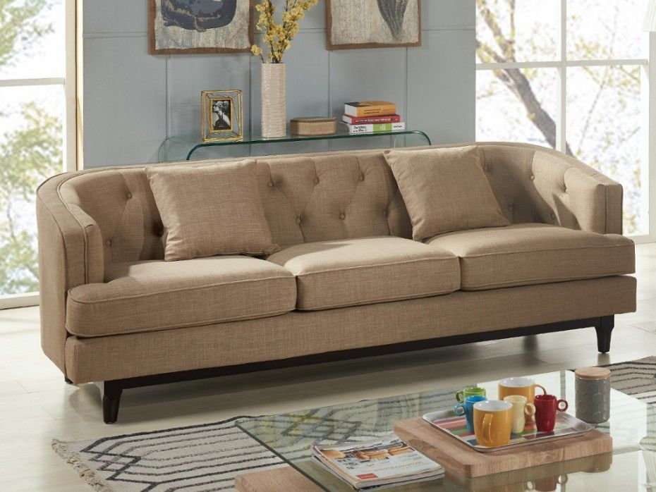 Sofa stoff  3-Sitzer-Sofa Stoff Elton - Beige | Livingroom | Pinterest ...