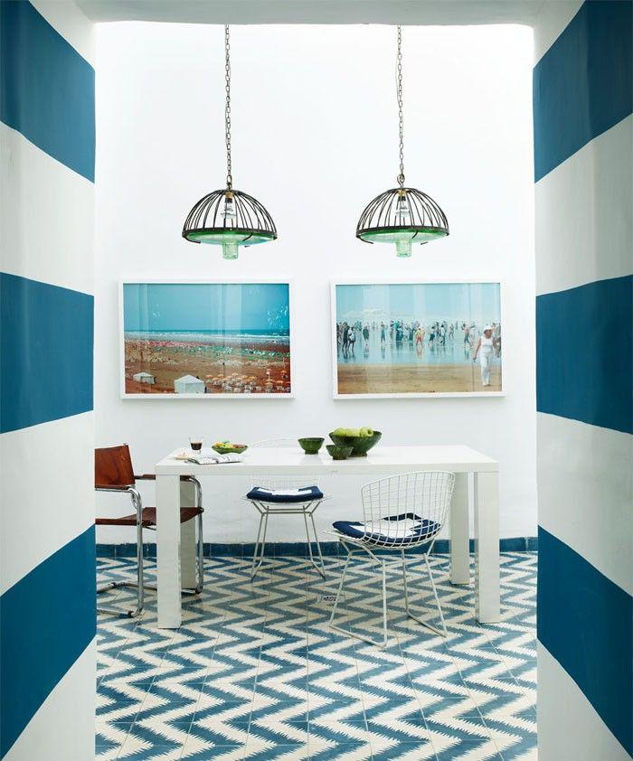 marokkanische fliesen zementfliesen interirdesign ideen wohnung design anders denken mosaik fliesen kreative wandgestaltung maritim