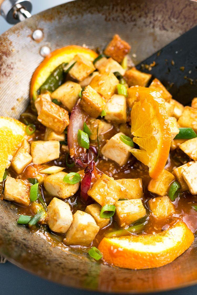 Pan Fried Orange Tofu Crazy Vegan Kitchen Orange Tofu Recipe Tofu Recipes Vegan Tofu Recipes