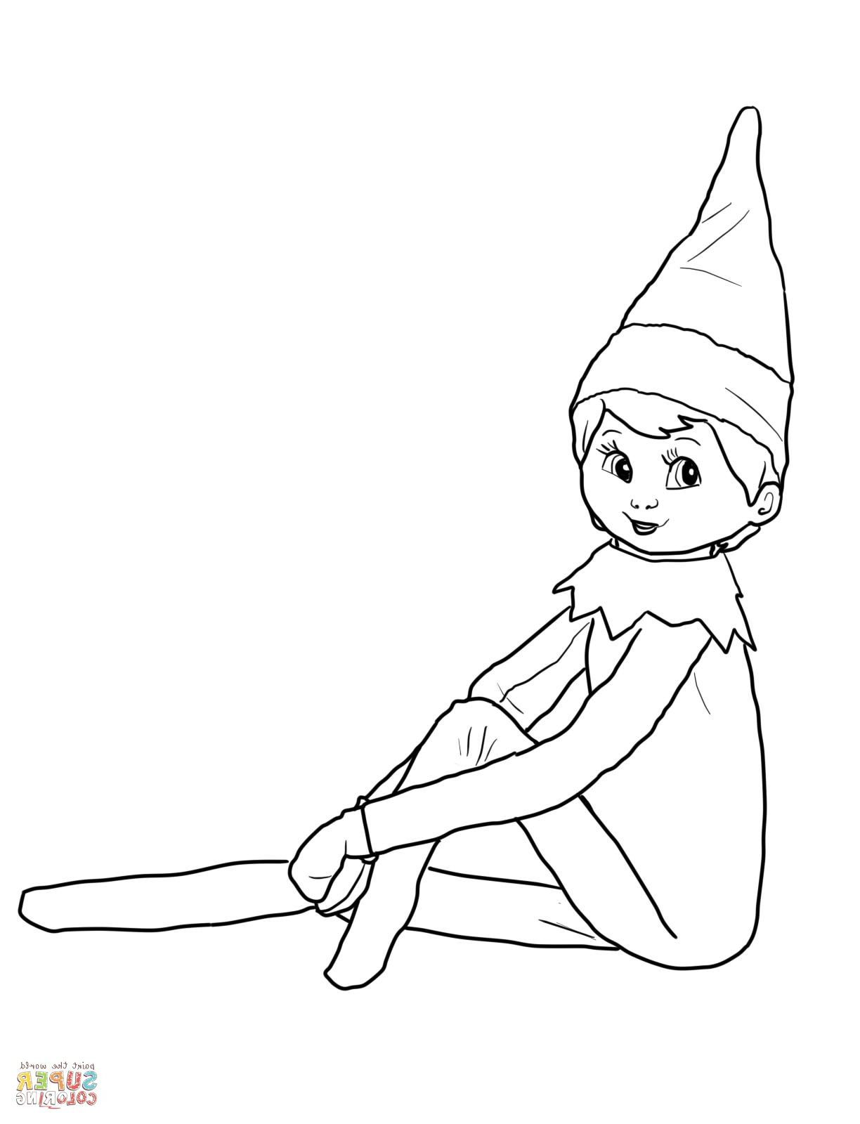 Christmas Elf Coloring Page Christmas Coloring Pages Cute