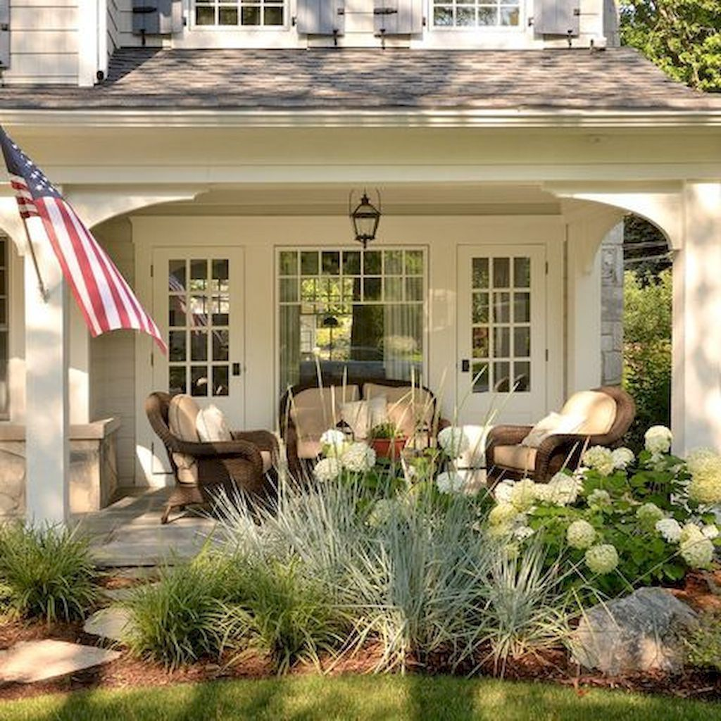 Landscape Design Around Farmhouse Front Porch