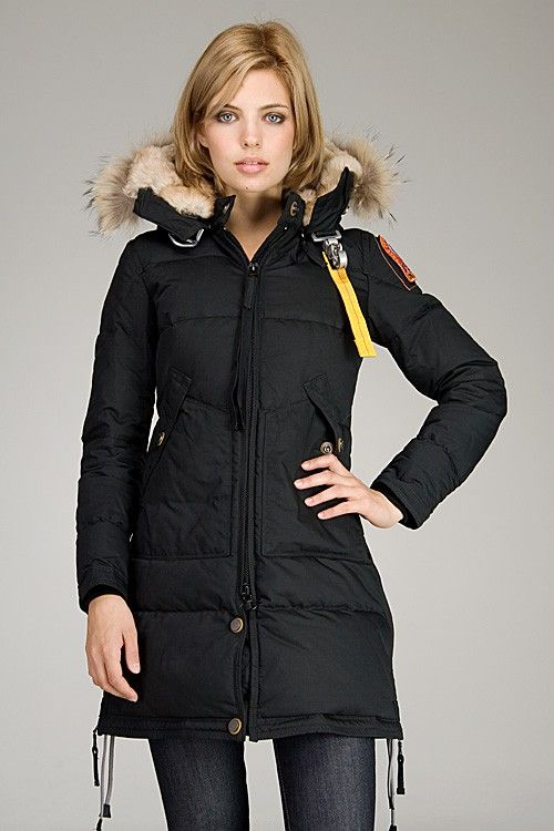 0d76e73a7eb3 Parajumpers Long Bear Woman Down Coats Black -Parajumpers Outlet Shop