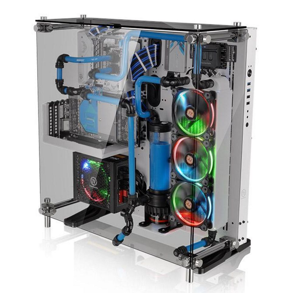 Thermaltake Core P5 Tempered Glass Snow Edition Atx Wall Mount Chassis Technik