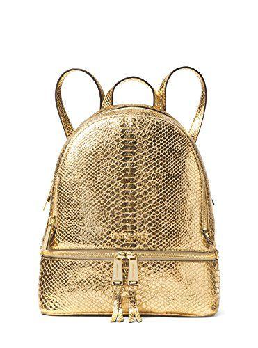 a8aa4c8b1b50 MICHAEL Michael Kors Rhea Zip Medium Backpack Metallic Gold * You can get  additional details at