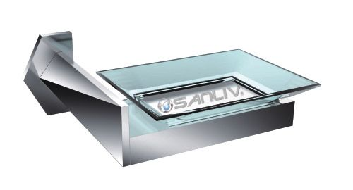 luxury square chrome soap dish holder for hotel bathrooms