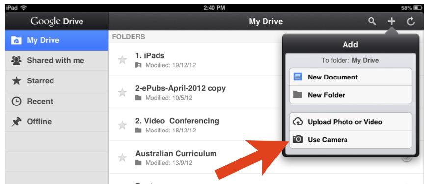 Video inside your Google Drive App Google drive app