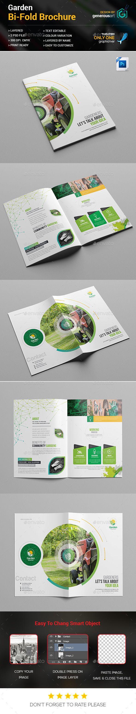 garden bi fold brochure brochures print templates brochure