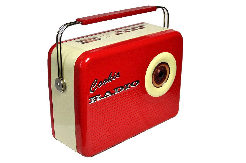 Deko Box amazon.de: blechdose keksdose und deko box retro cookie radio in rot