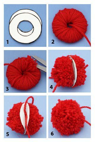 pattern pom pom printables how to make your own pom poms without a pom pom maker yarn. Black Bedroom Furniture Sets. Home Design Ideas