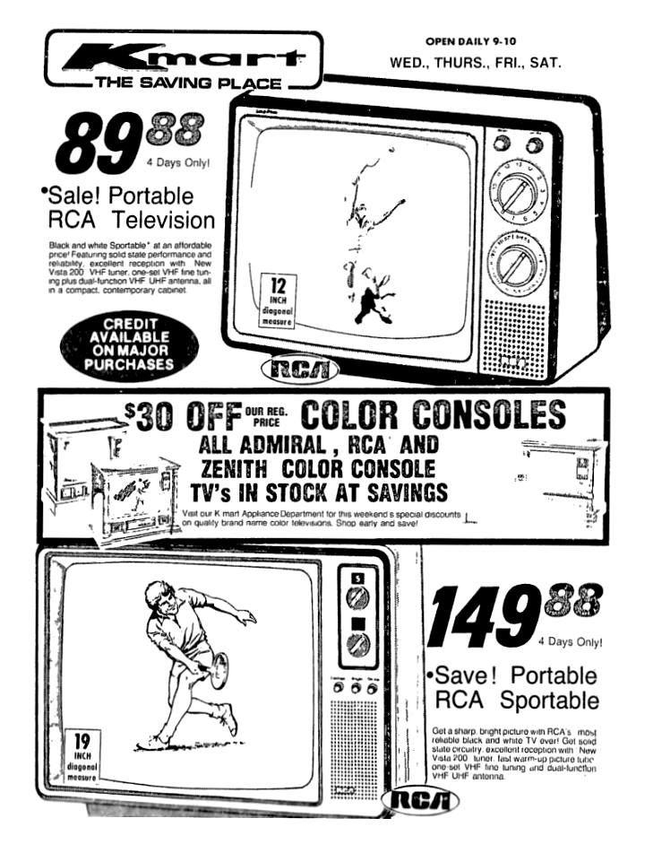 Kmart Rca Tv June 1979 Vintage Ads Vintage Advertisements Retro Ads