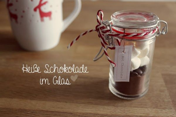 kuddelmuddel diy hei e schokolade im glas geschenke aus der k che pinterest hei e. Black Bedroom Furniture Sets. Home Design Ideas