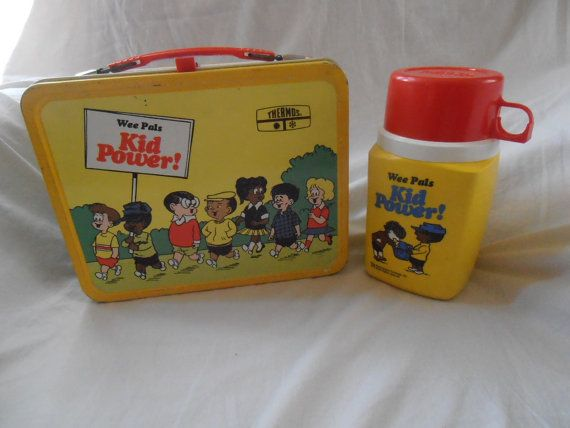 1973 Wee Pals Kid Power Metal Lunch Box with Thermos on Etsy, $50.00