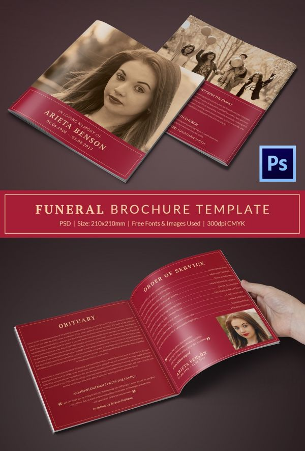 Funeral Program Templates Free Word PDF PSD Documents - Funeral brochure templates free